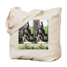 new horse logo -- statue Tote Bag