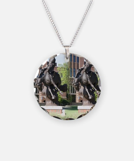 new horse logo -- statue Necklace