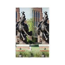 new horse logo -- statue Rectangle Magnet