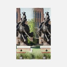 new horse logo -- statue Rectangle Magnet