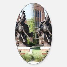new horse logo -- statue Sticker (Oval)