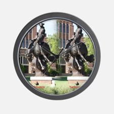 new horse logo -- statue Wall Clock