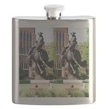 new horse logo -- statue Flask
