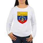 Venezuela Flag Crest Shield Women's Long Sleeve T-