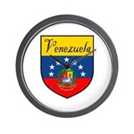 Venezuela Flag Crest Shield Wall Clock