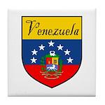 Venezuela Flag Crest Shield Tile Coaster