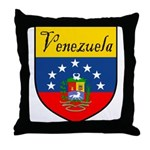 Venezuela Flag Crest Shield Throw Pillow