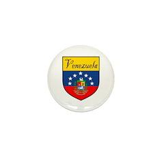 Venezuela Flag Crest Shield Mini Button (100 pack)