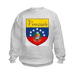 Venezuela Flag Crest Shield Kids Sweatshirt