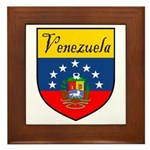 Venezuela Flag Crest Shield Framed Tile