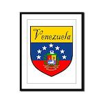 Venezuela Flag Crest Shield Framed Panel Print