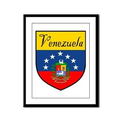 Venezuela Flag Crest Shield Framed Panel Print