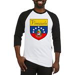 Venezuela Flag Crest Shield Baseball Jersey