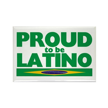 PROUD LATINO (BRAZIL) Rectangle Magnet