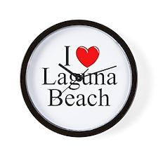 """I Love Laguna Beach"" Wall Clock"