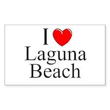 """I Love Laguna Beach"" Rectangle Decal"
