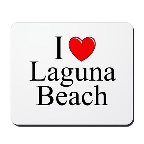 """I Love Laguna Beach"" Mousepad"