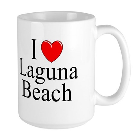 """""""I Love Laguna Beach"""" Large Mug"""