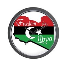 Freedom for Libya Wall Clock