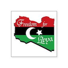 "Freedom for Libya Square Sticker 3"" x 3"""