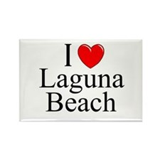 """I Love Laguna Beach"" Rectangle Magnet"