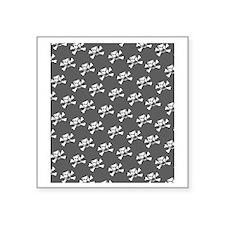 "BHNW_BullieSkullsGREY_flip_ Square Sticker 3"" x 3"""