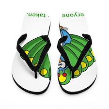Be yourself green Flip Flops