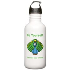 Be yourself green Water Bottle