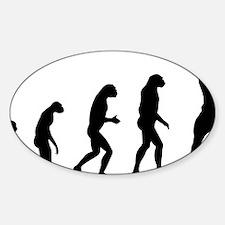 evolution body Sticker (Oval)