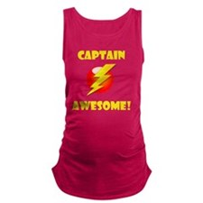 Captain Awesome Yellow Maternity Tank Top