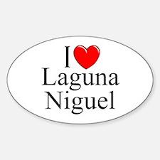 """I Love Laguna Niguel"" Oval Decal"