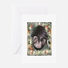 Ferret Tunnel Christmas Greeting Cards (Pk Of 20)