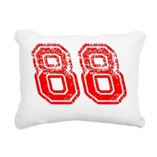 88red Rectangular Canvas Pillow