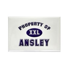 Property of ansley Rectangle Magnet