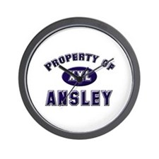 Property of ansley Wall Clock