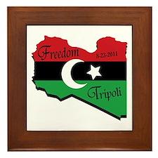 Freedom Libya PNG Framed Tile