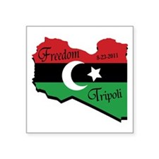"Freedom Libya PNG Square Sticker 3"" x 3"""
