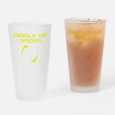 ToeNailOptional4_black2 Drinking Glass