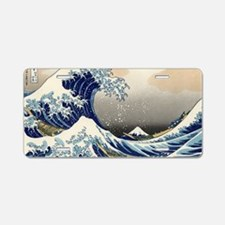 great_wave_laptop_skin Aluminum License Plate