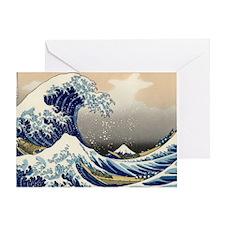 great_wave_laptop_skin Greeting Card