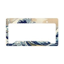 great_wave_laptop_skin License Plate Holder