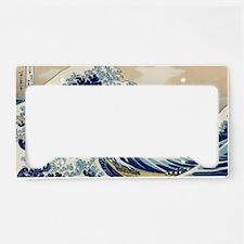 great_wave_laptop_skin License Plate Holder