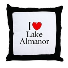 """I Love Lake Almanor"" Throw Pillow"