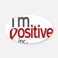 Im Positive, Inc. Logo Oval Car Magnet