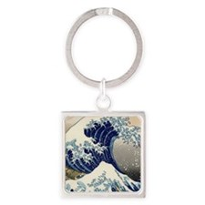 great_wave_v_ipad2_case Square Keychain