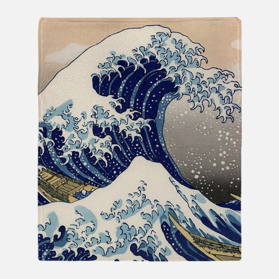 great_wave_v_ipad2_case Throw Blanket