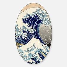 great_wave_v_ipad2_case Sticker (Oval)