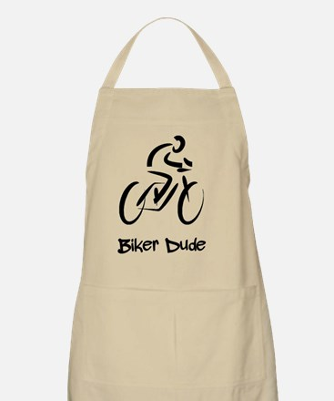 Biker Dude Black Apron