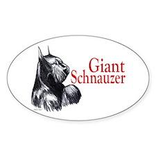giant schnauzer Oval Decal