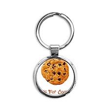 Cookie Brown Round Keychain